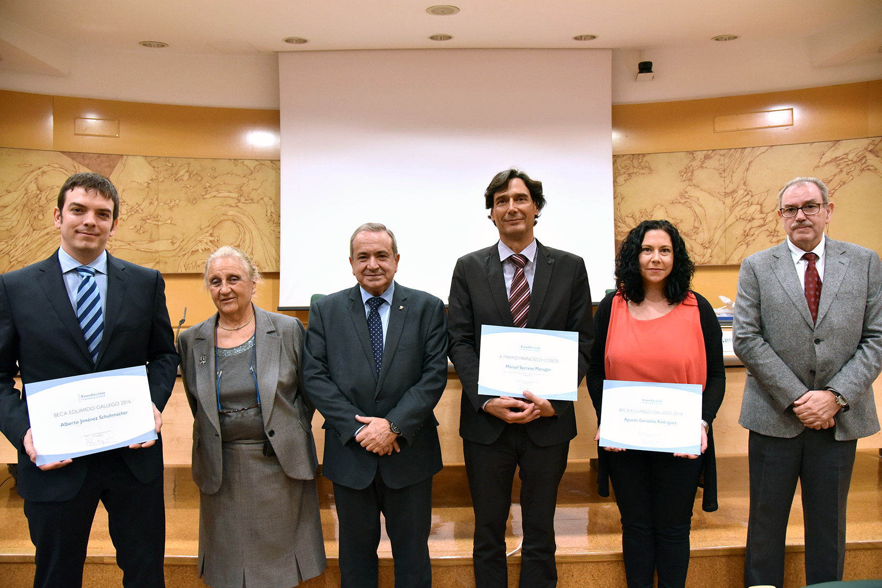 Entrega del X Premio Francisco Cobos y Becas Eduardo Gallego