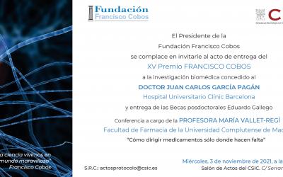 Convocado el acto de entrega del XV Premio Fundación Francisco Cobos